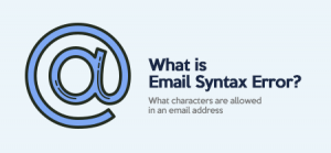 What is Email Syntax Error?